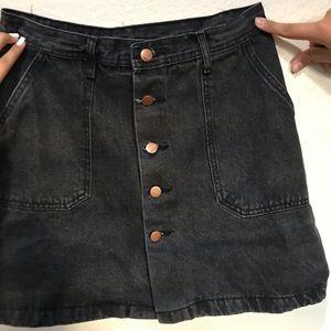 Denim Black Skirt.